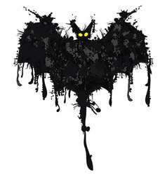 Bat ink Happy Halloween vector image