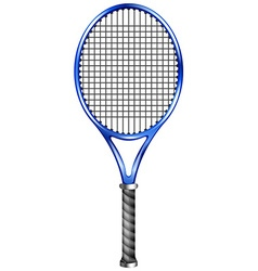 Blue racquet for tennis or squash vector