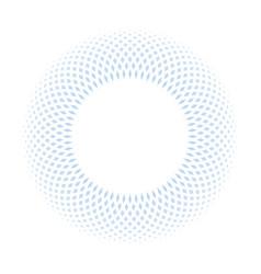 blue ring mosaic on white background stylish vector image