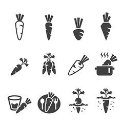 Carrot icon set vector