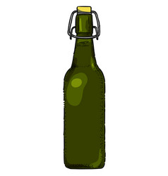 Cartoon image of beer bottle icon glass bottle vector