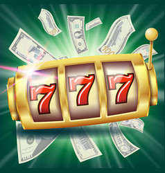 Casino slot machine banner fortune chance vector