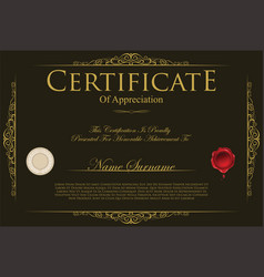 Certificate or diploma template 9 vector