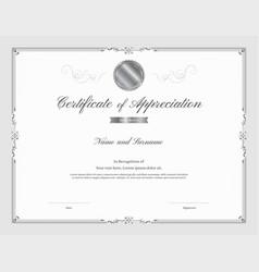 Certificate template with elegant border frame vector