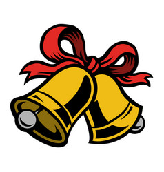 Christmas bells icon vector