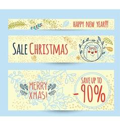 Christmas sale design template web banner vector image