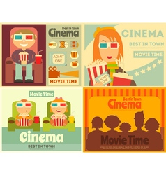 Cinema Posters Set vector