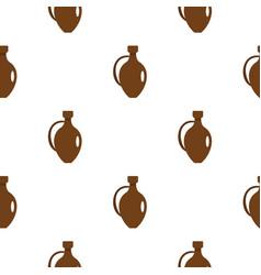 clay wine jug pattern flat vector image