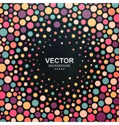 Colorful dotted abstract background vector