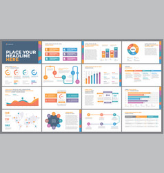 colorful presentation template vector image
