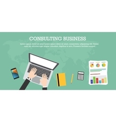 Consulting business vector