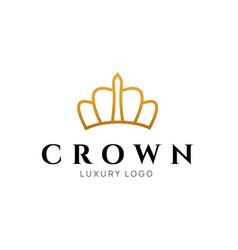 crown logo king royal icon queen logotype vector image