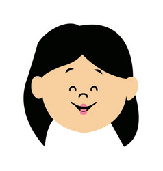 Cute profile woman character avatar female vector