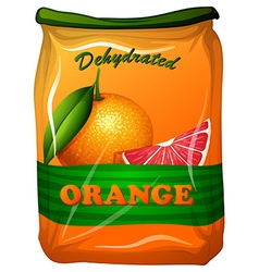 Dehydrated orange in bag vector