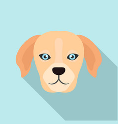 dog head icon flat style vector image