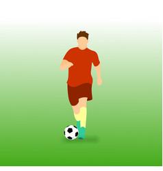 Dribbling ball football soccer player vector