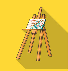 easel with masterpiece icon in flat style isolated vector image
