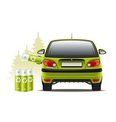 Electric car recharges vector image