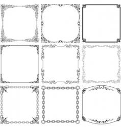 Elegant frames vector