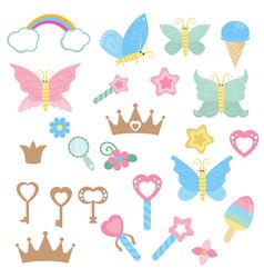 fairy design elements fairy design elements vector image