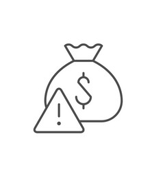 financial risk line outline icon vector image