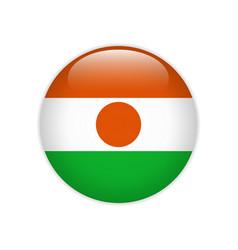 Flag niger button vector