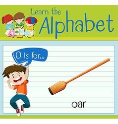 Flashcard alphabet O is for oar vector