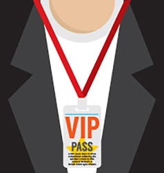 Flat Design VIP Lanyard vector image