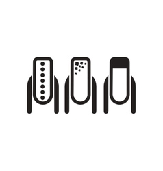 Flat icon in black and white manicure vector
