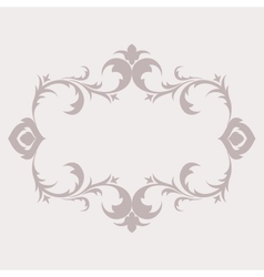 Floral frame in the style of Baroque Decorative vector