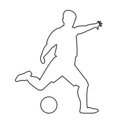 Footballer black color icon vector