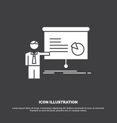 graph meeting presentation report seminar icon vector image