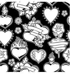 graphic old school pattern vector image