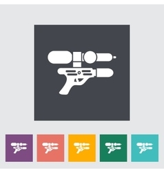 Gun toy icon vector