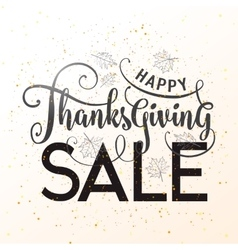 Happy Thanksgiving Sale vector