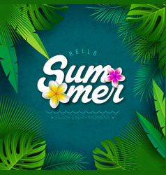 hello summer with typography vector image