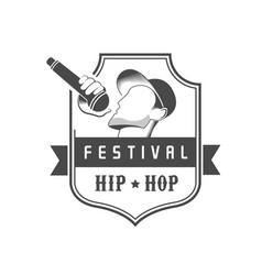 Hip hop logotype vector