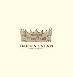 Indonesian traditional culture home vintage logo vector
