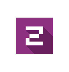Initial letter z logo icon design vector