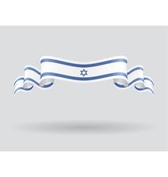 Israeli wavy flag vector