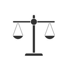 justice scale icon flat vector image