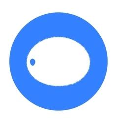Kiwi icon black Singe fruit icon vector image