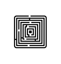 labyrinth icon vector image vector image