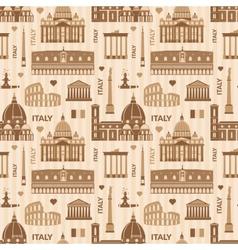 Landmarks of Italy seamless pattern vector