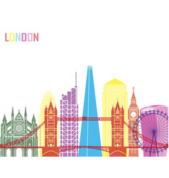London v2 skyline pop vector