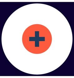 Medical cross computer symbol vector