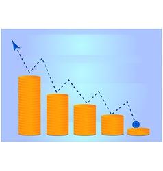 Money grow chart vector