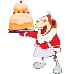 Monkey Gourmet Chef Year of the Monkey Cartoon vector image