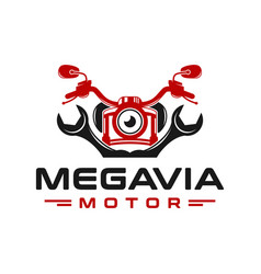 motorcycle repair logo design vector image