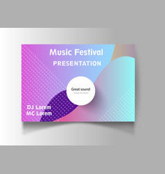 Night dance party music poster template vector